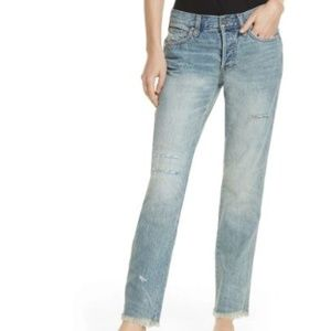 Free People 29 Skinny Distressed Frayed Jeans 3Y73